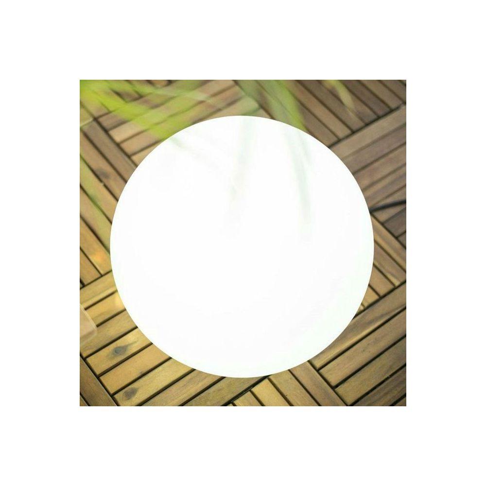 New Garden BULY-Lampe baladeuse d'extérieur RGB solaire rechargeable Ø30cm Blanc New Garden