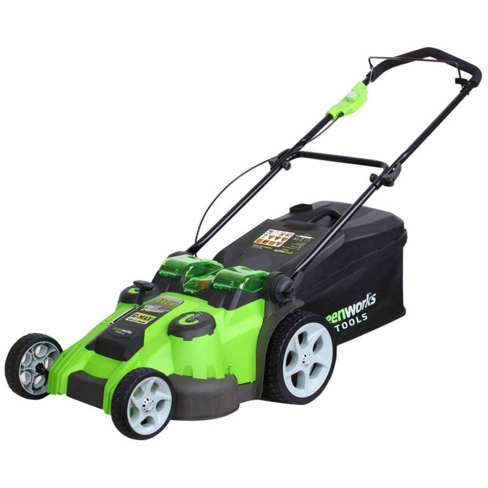 Greenworks Greenworks Tondeuse à gazon sans batterie 40 V G40LM49DB 49 cm 2500207