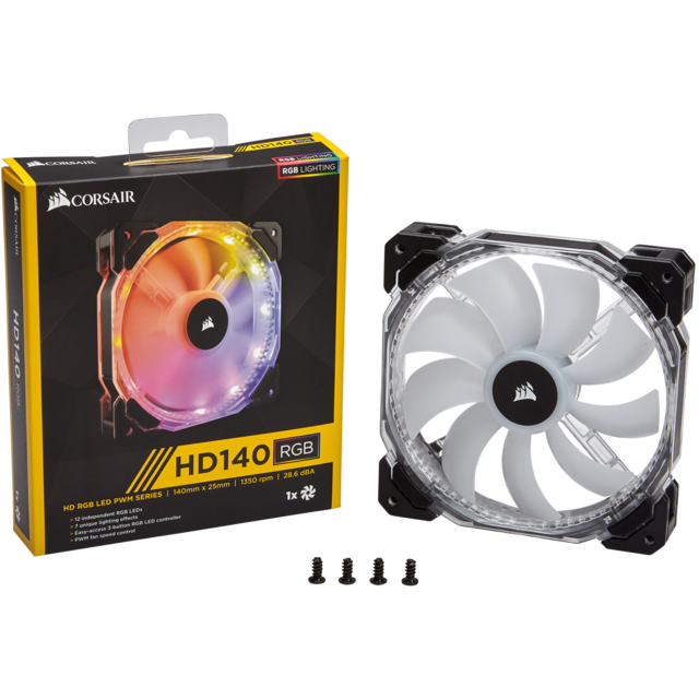 Corsair - HD140 RGB LED (Single Fan, No Controller) Corsair   - Ventilateur Pour Boîtier