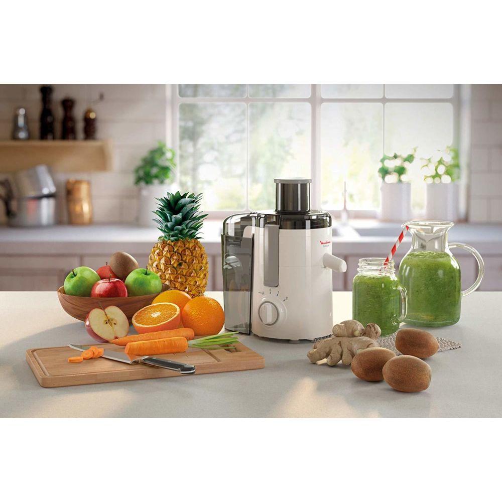 Moulinex centrifugeuse électrique pour Fruits et Légumes avec 2 vitesses 350W blanc