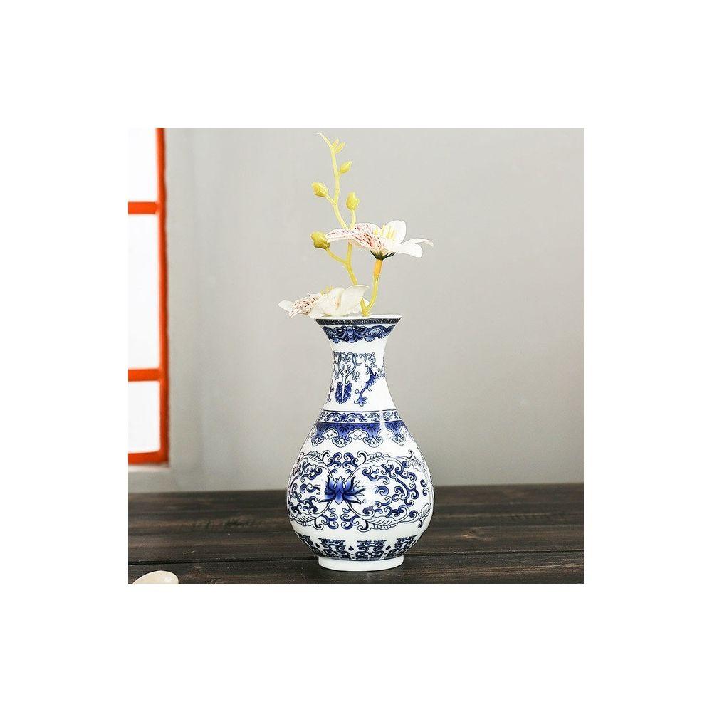 Wewoo Tenture murale Fleur Antique Jardiniere Vase En Céramique Décoration Style Deux
