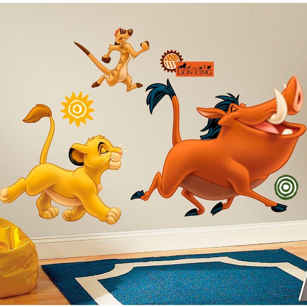 Roommates Stickers géant Simba et Timon & Pumba Roi Lion Disney