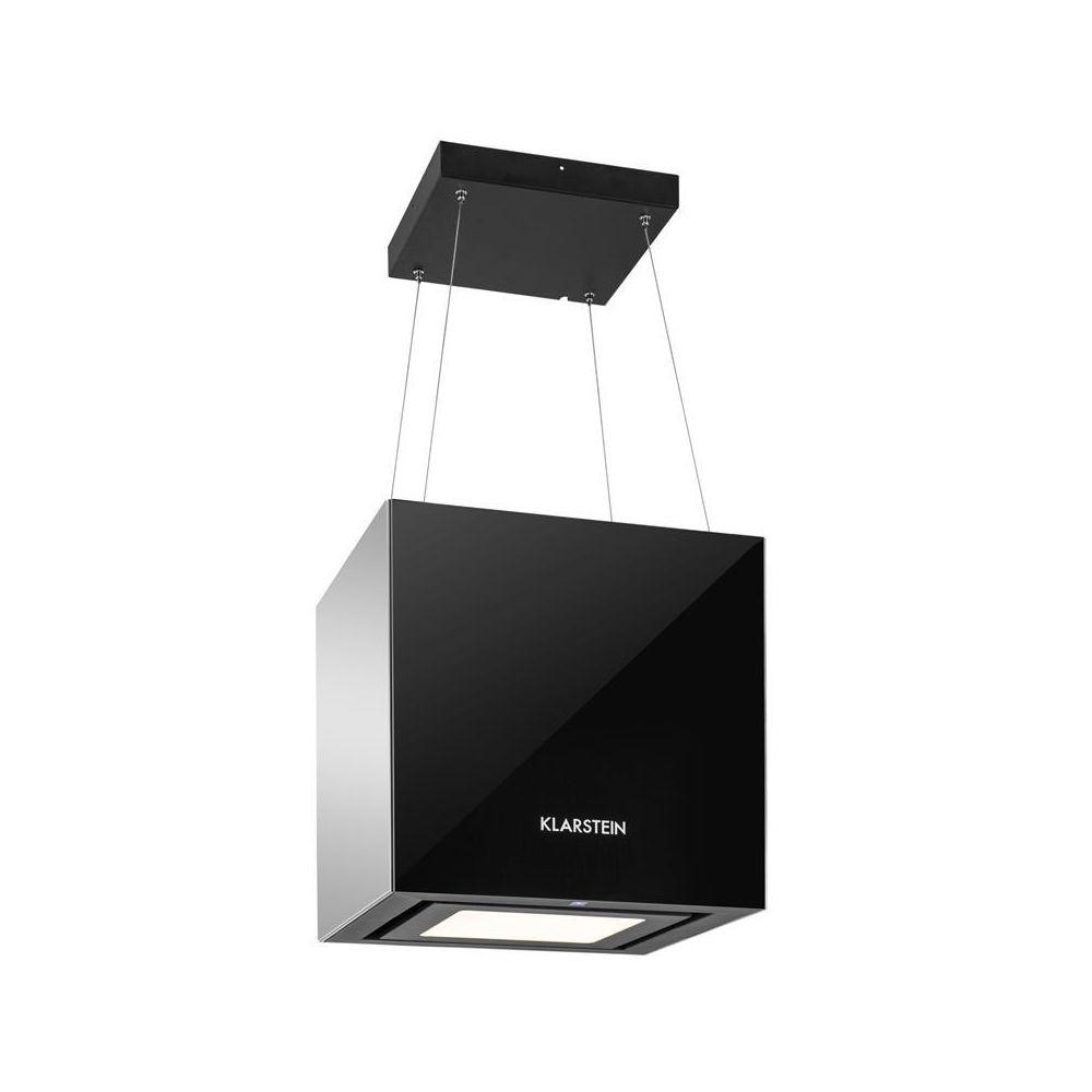 Klarstein Klarstein Hotte aspirante îlot suspension plafond LED Verre réfléchissant - noir Klarstein