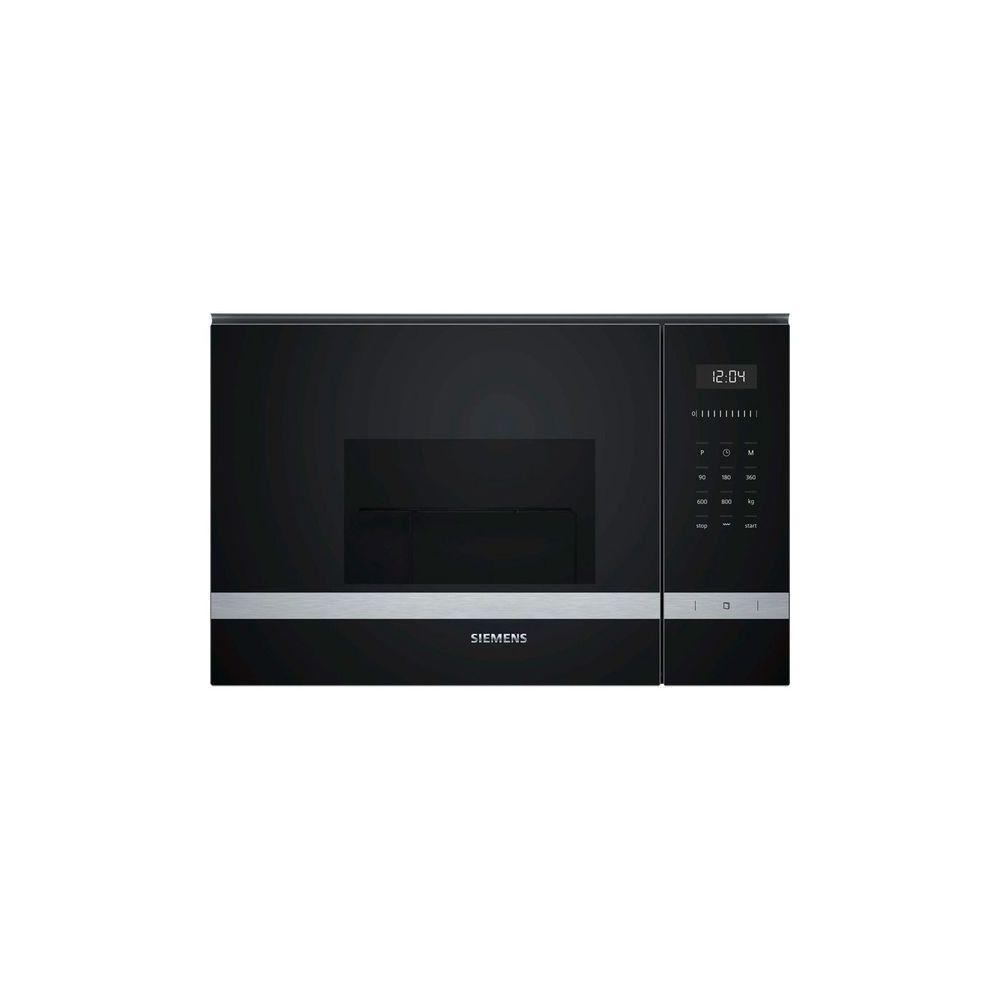 Totalcadeau Micro ondes intégrable avec grill en acier inoxydable 20 L 1270W Noir - Micro onde encastrable cuisine