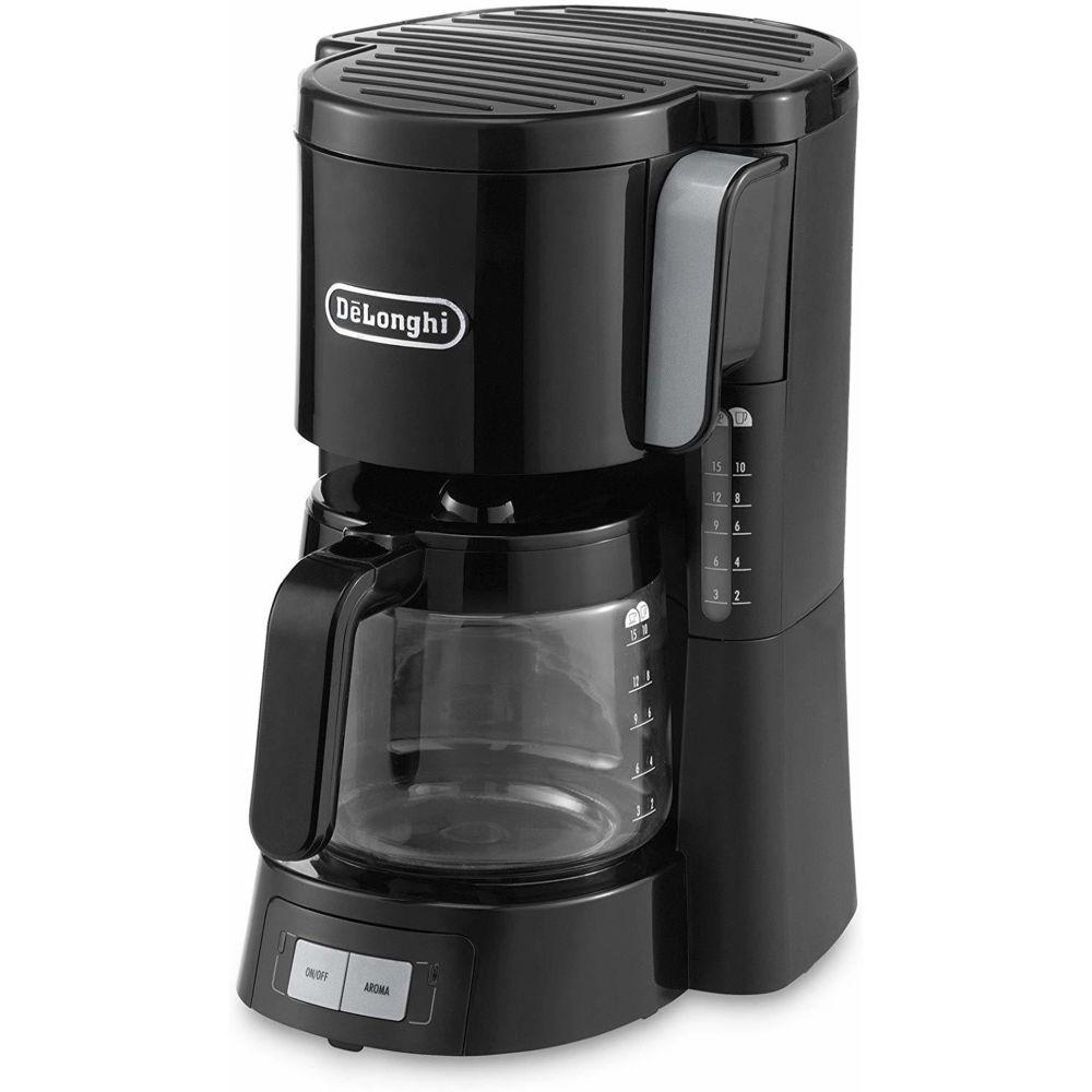 Delonghi cafetière électrique de 1,25L pour 10 tasses 1000W noir