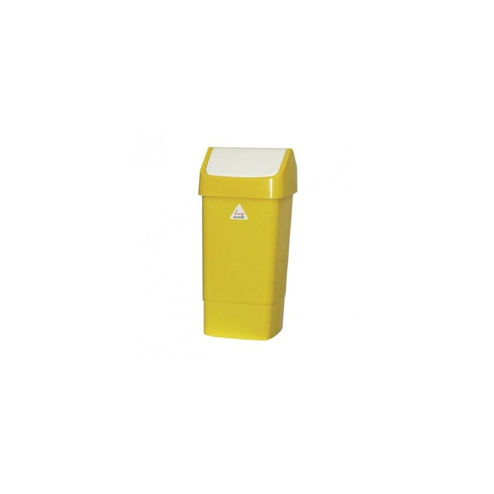Materiel Chr Pro Poubelle jaune à couvercle battant 50 litres - Scot Young -
