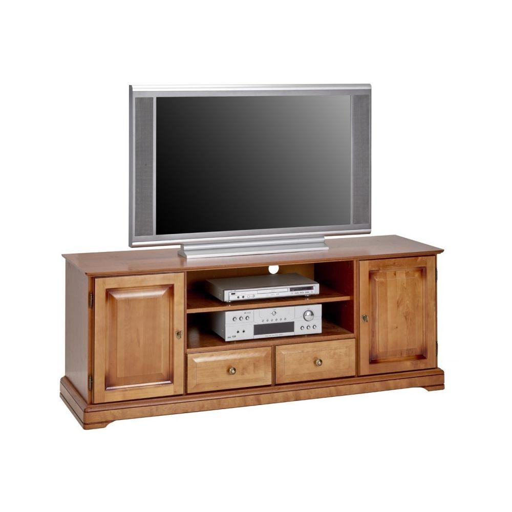 Beaux Meubles Pas Chers Meuble Grand Ecran TV Merisier 159 cm