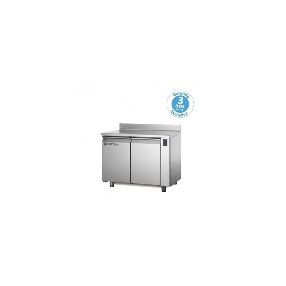 Materiel Chr Pro Table réfrigérée négative - sans groupe - 2 portes - 260 litres - profondeur 800 - 600 x 400 - avec dosseret -
