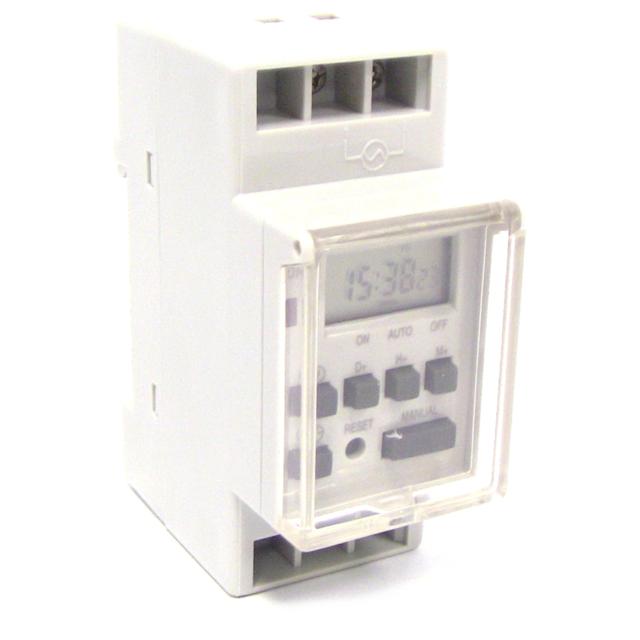 HomeDecTime Programmateur Horaire /électrique Hebdomadaire /à Affichage Num/érique pour Rail Lampadaires N/éons 220v