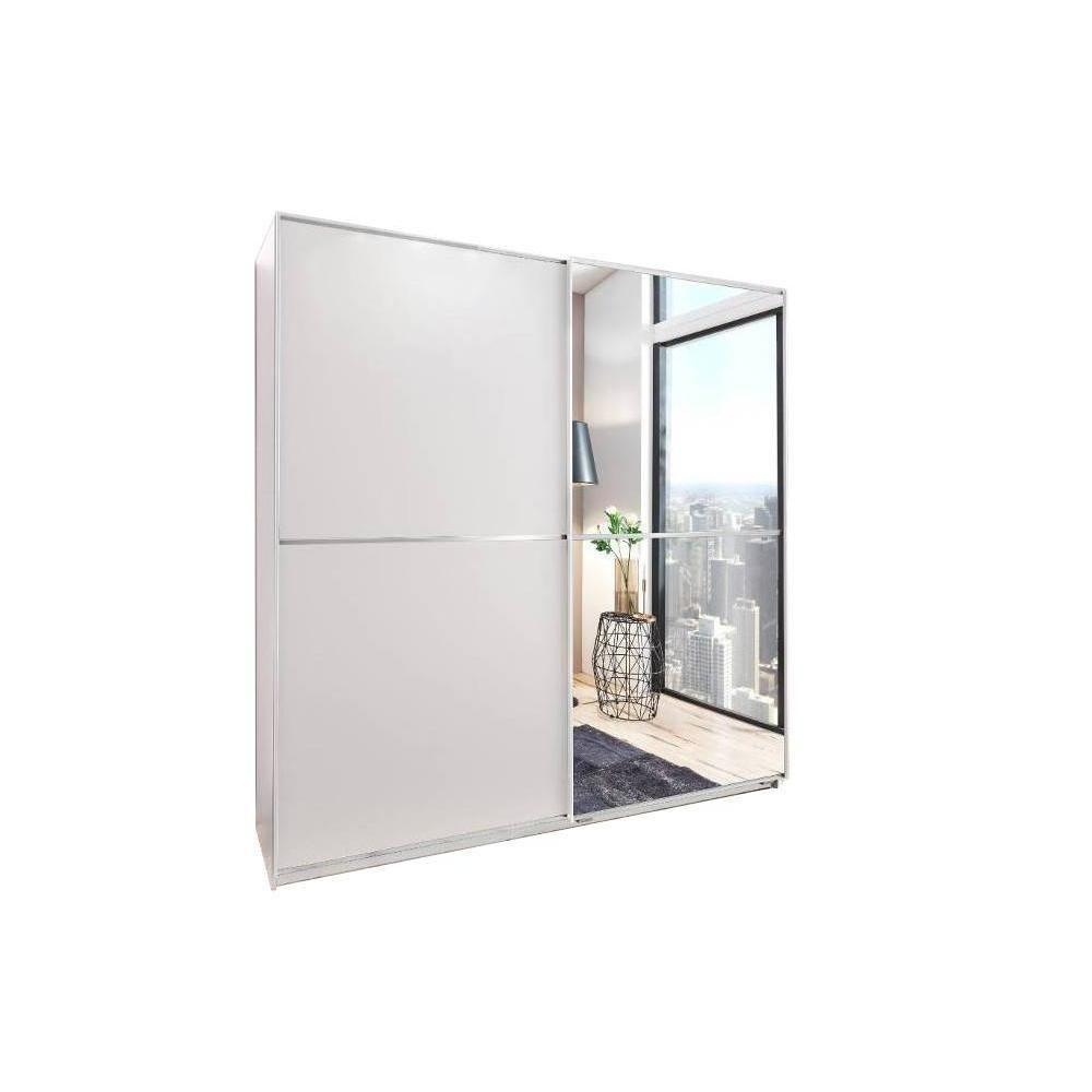 Inside 75 Dressing portes coulissantes HENDRIX 135 cm blanc / miroir