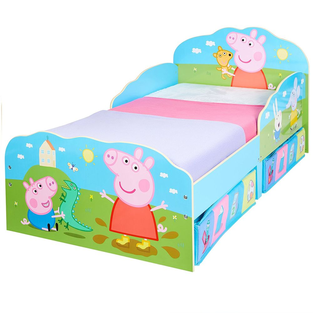 WORLDS APART Lit enfant Peppa Pig Famille avec tiroirs de rangement