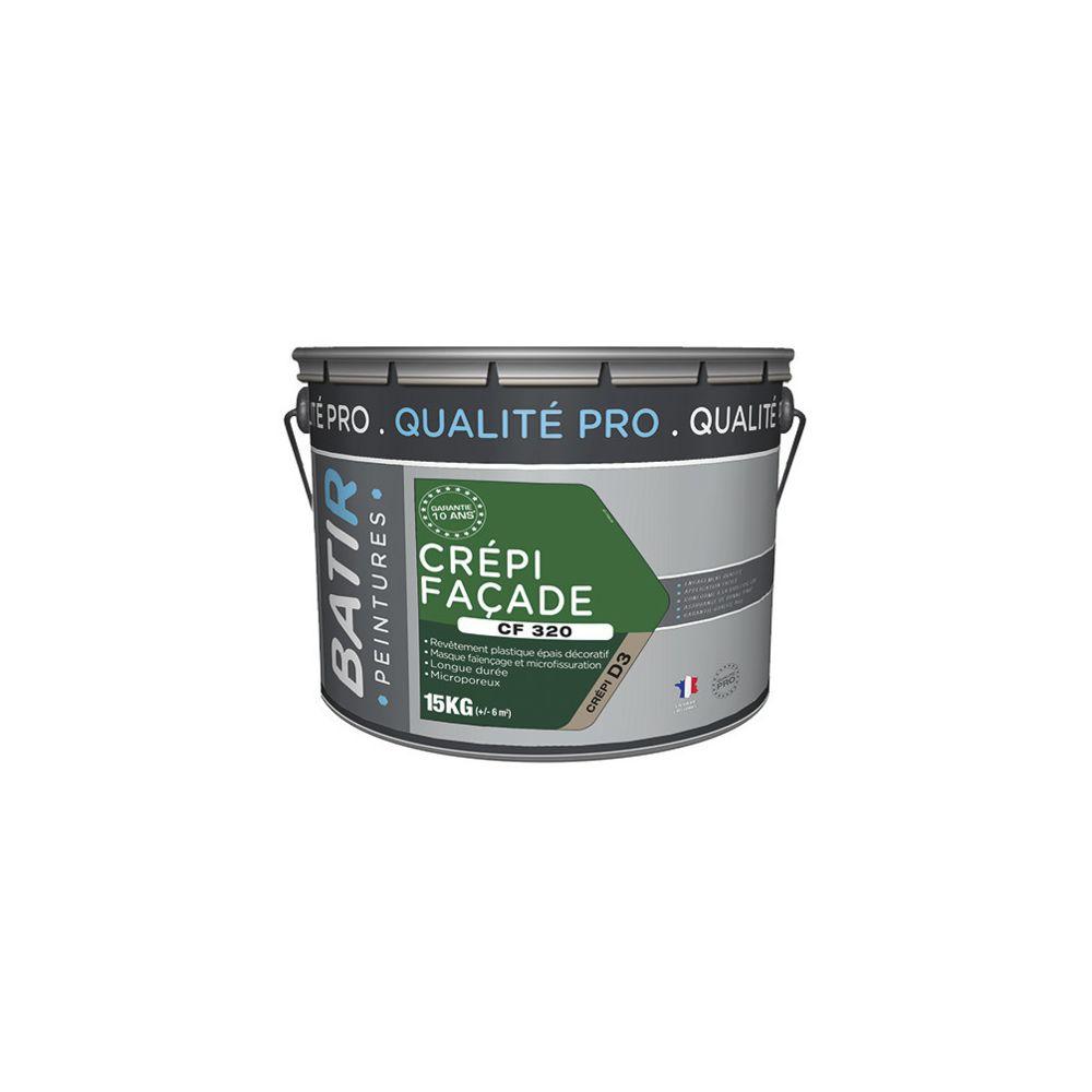Batir Peintures Peinture crépi Mat pour intérieur 15 Kg- Blanc - BAT111204 - Batir