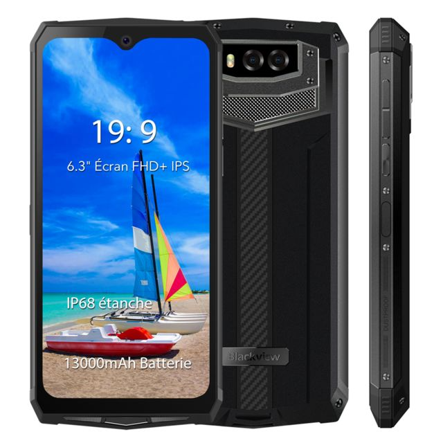"Blackview - Smartphone Incassable IP68 Etanche Blackview BV9100 6.3"""" Écran 13000mAh Grosse Batterie 4Go + 64Go Téléphone mobile 4G NFC - Gris - Smartphone Android"