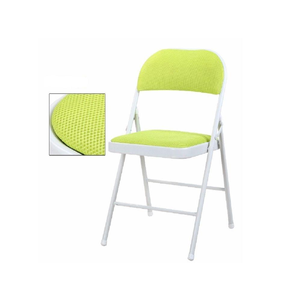 Wewoo Chaise de conférence en métal se pliante portative de de bureau d'ordinateur de de de loisirs plein air de vert
