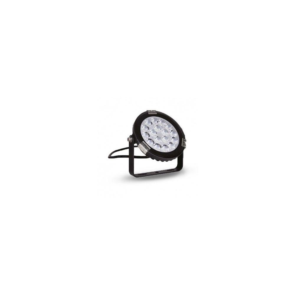 Vision-El Projecteur Extérieur Noir 230V 9W RGB + Blanc IP65