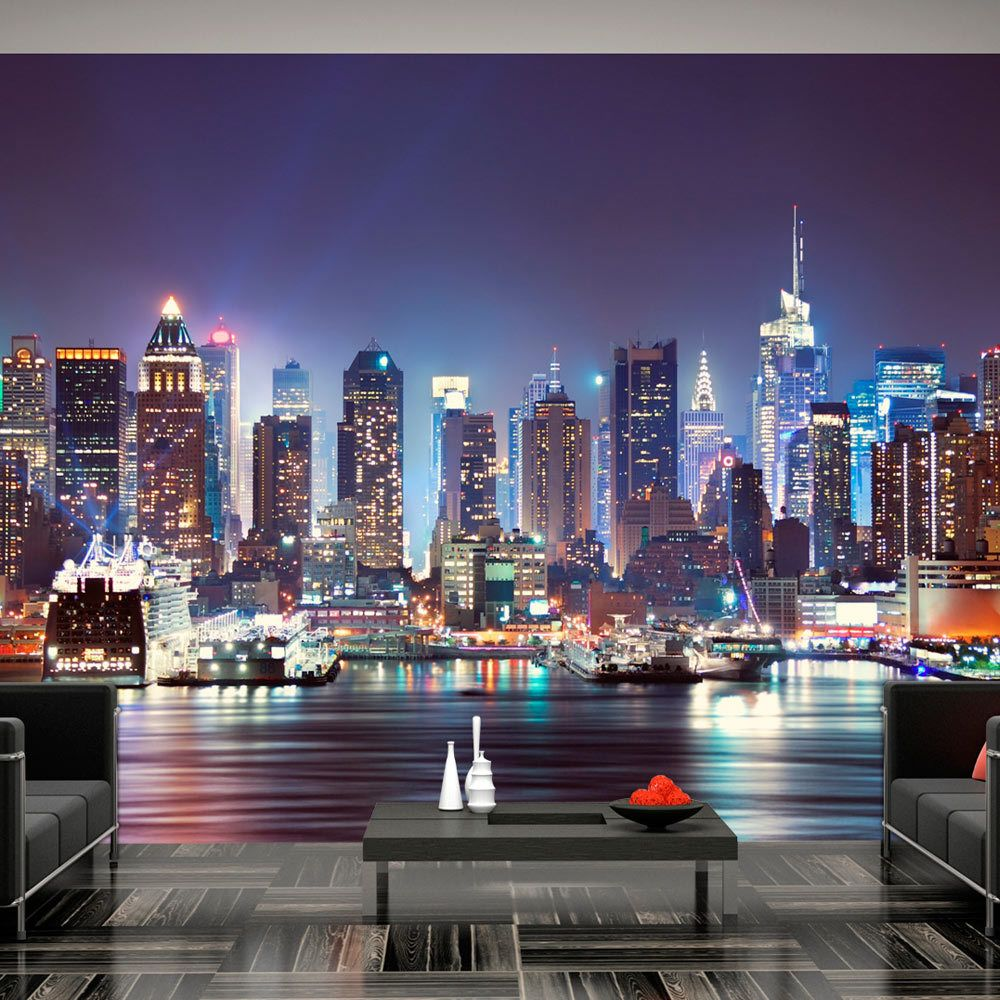 Bimago Papier peint - Night in New York City - Décoration, image, art | Ville et Architecture | New York |