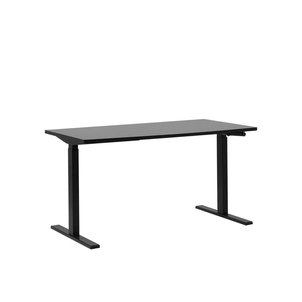 Beliani Beliani Table de bureau 160 x 72 cm noire hauteur réglable manuellement DESTIN II - noir