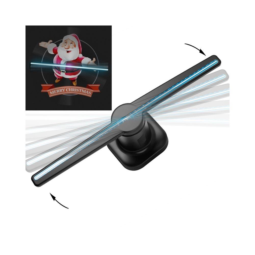 Wewoo Panneau d'affichage LED 42cm Diamètre 224 Holographique Hologramme 3D Ventilateur avec Télécommande, Support Carte Micro