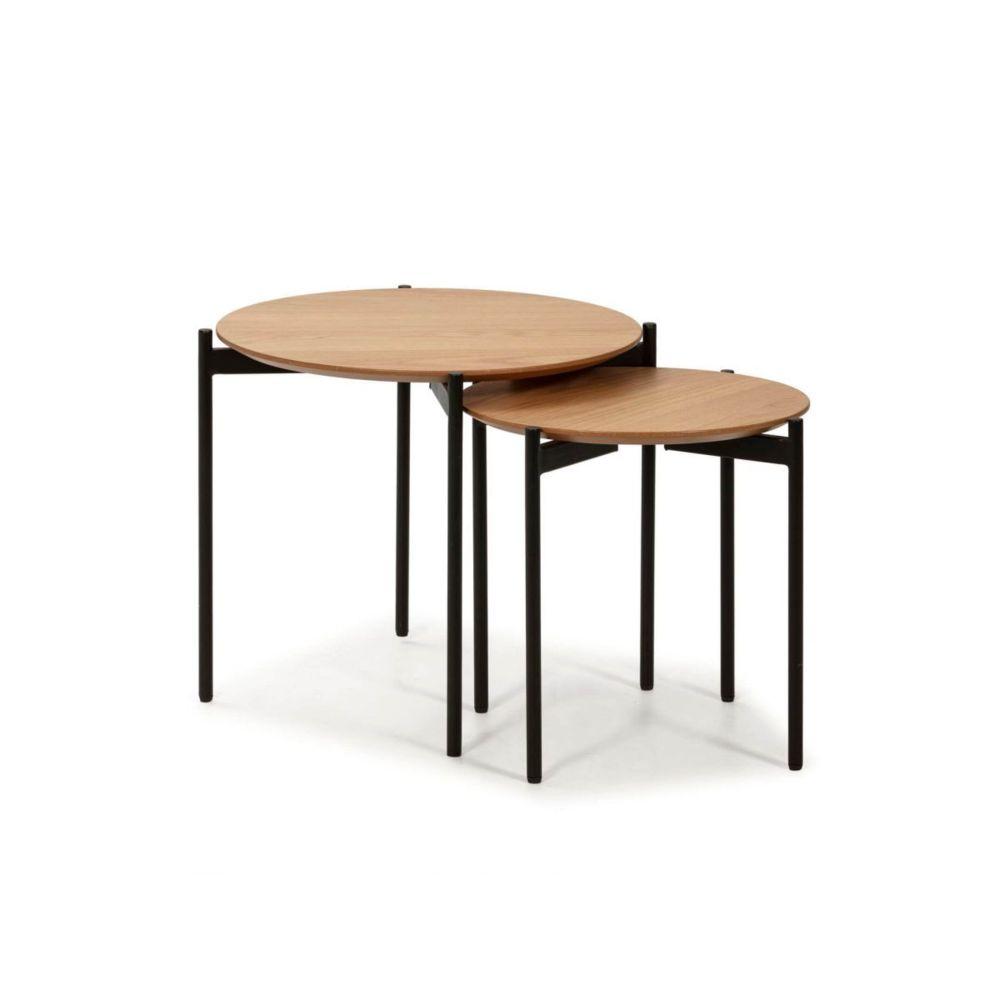 Bobochic BOBOCHIC Table basse RAPI chêne clair