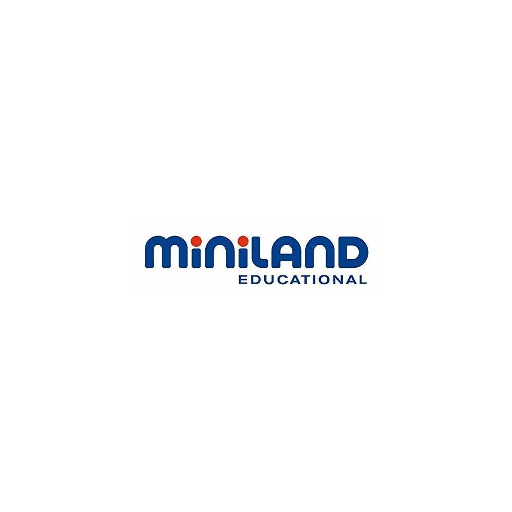 Miniland Miniland Educational - 10mm 3/8 Pegs with 6-Worksheets and Suitcase 240-Piece