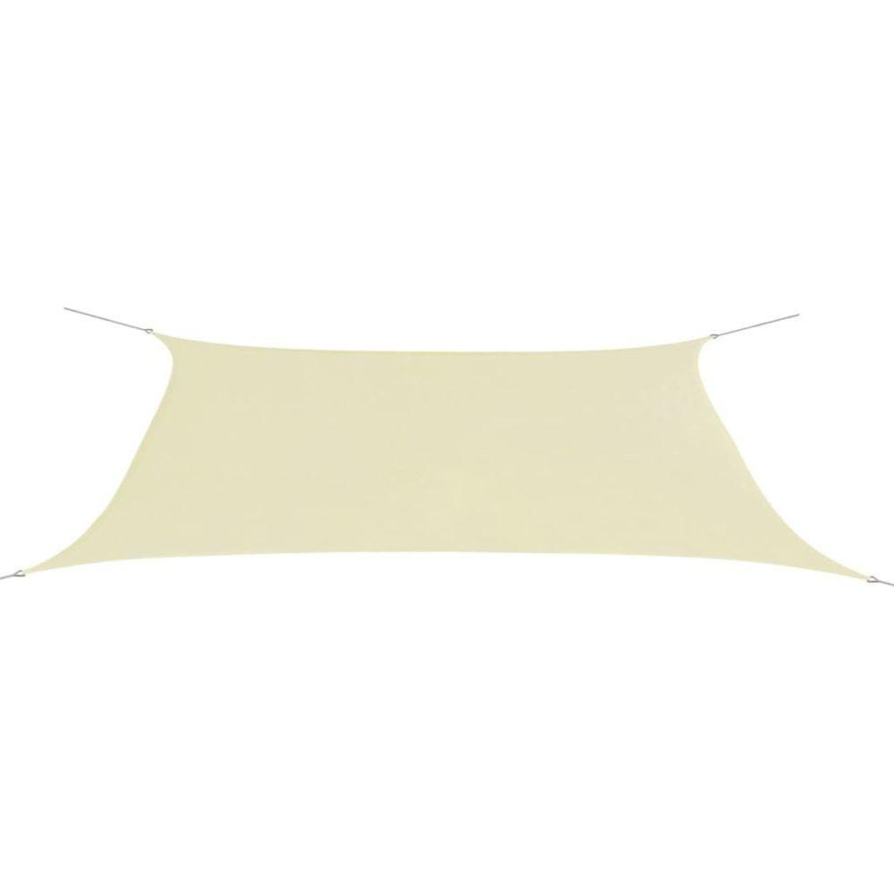 Vidaxl vidaXL Parasol en tissu Oxford rectangulaire crème 4x6 m