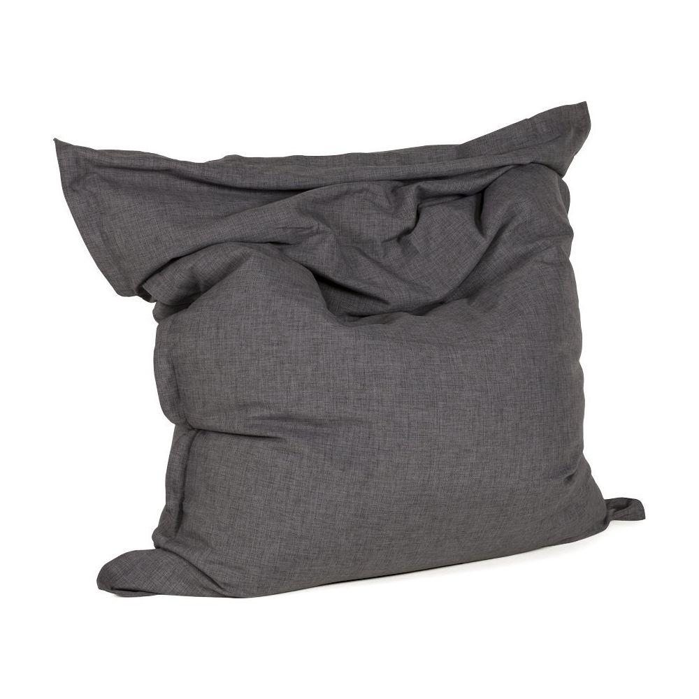 Alterego Pouf géant ' PILO ' en tissu chenille gris anthracite 135x175 cm