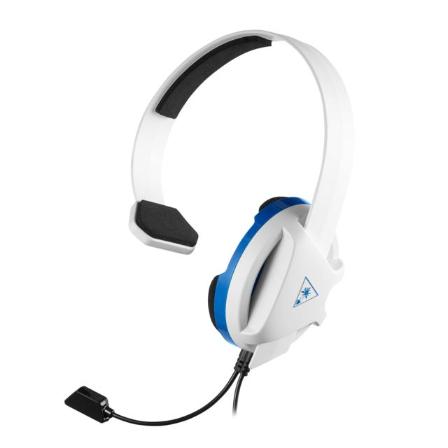 Turtle Beach -Recon Chat PS4 Blanc - Filaire Turtle Beach  - Micro-Casque Circum auriculaire