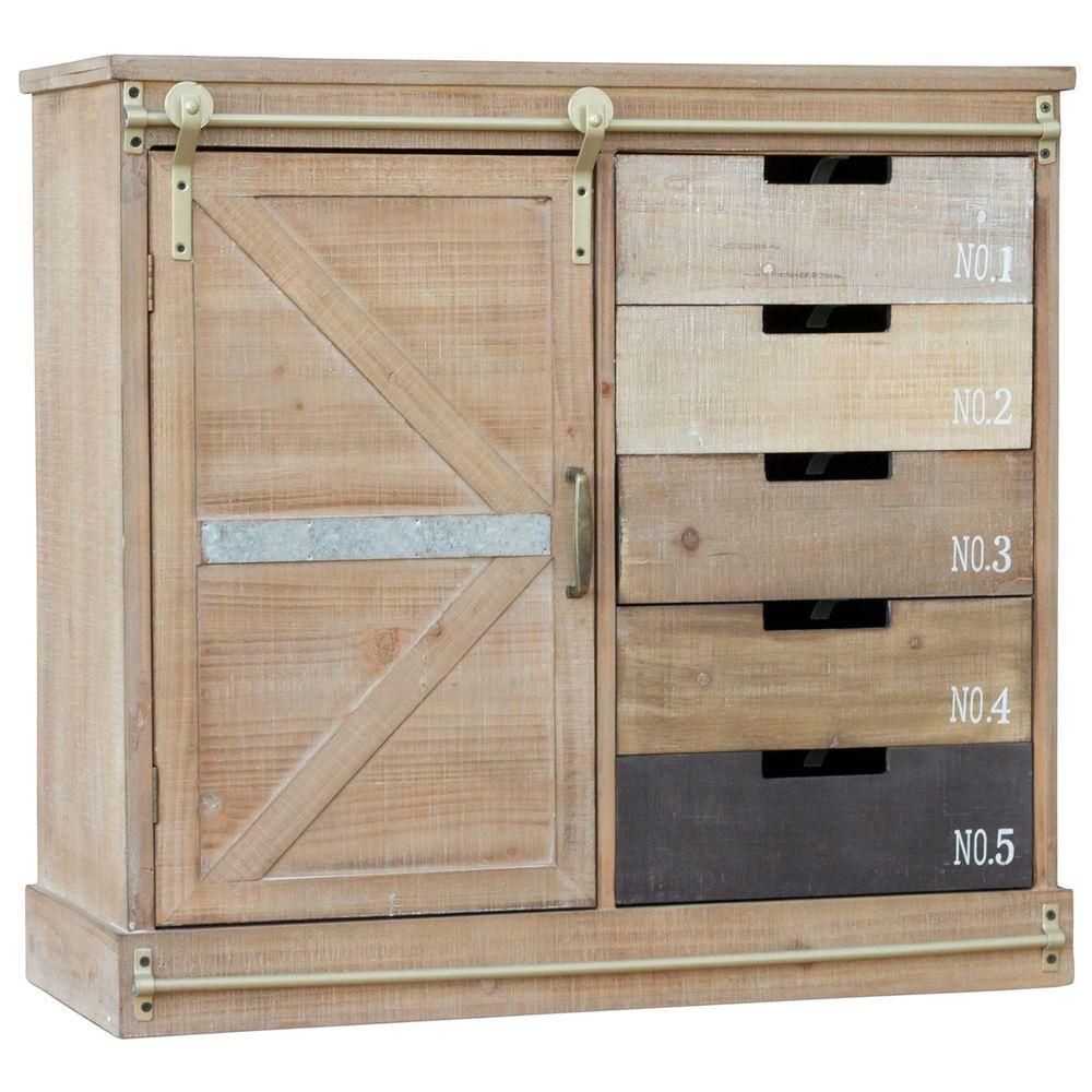 Privatefloor Buffet de style vintage industriel en bois