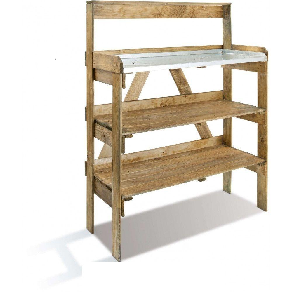 Jardipolys Table de préparation en bois Evolution