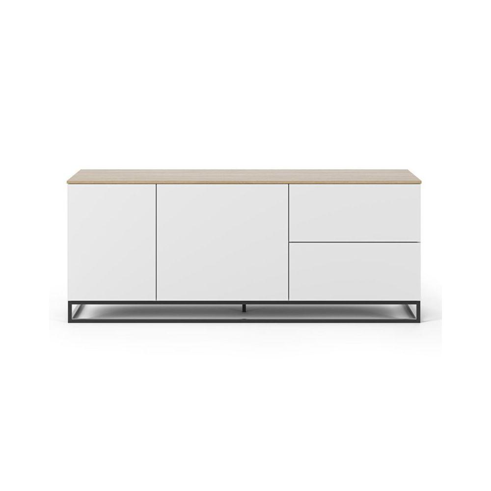 Paris Prix TemaHome - Buffet Design Join V 160cm Blanc & Chêne