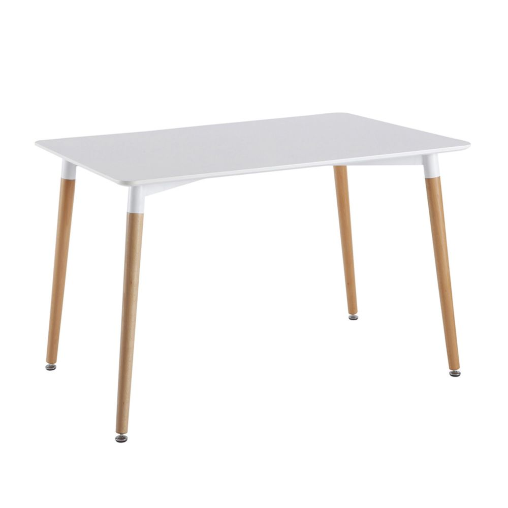 The Home Deco Factory Table rectangulaire Mobiliers Design - 74 x 75 x 115 cm - Blanche