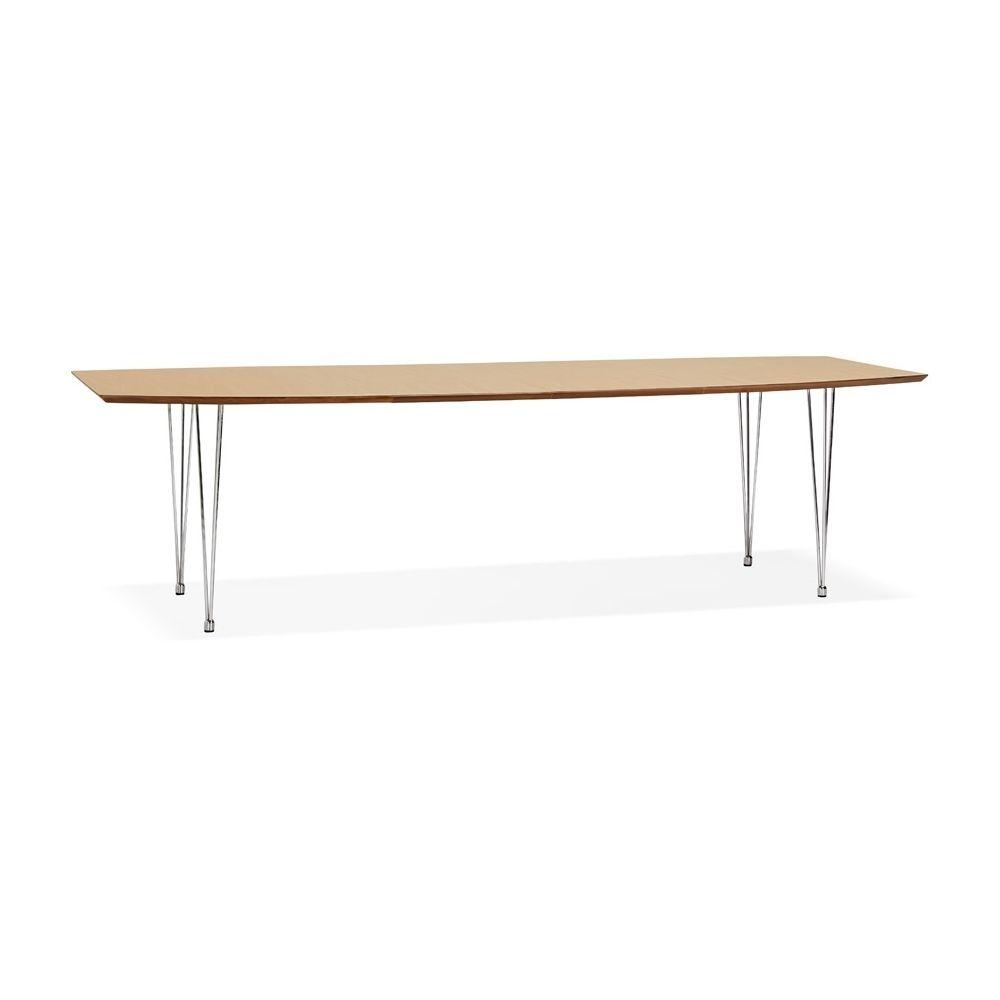 Alterego Table à dîner / de réunion extensible 'XTEND' en bois finition naturelle - 170(270)x100 cm