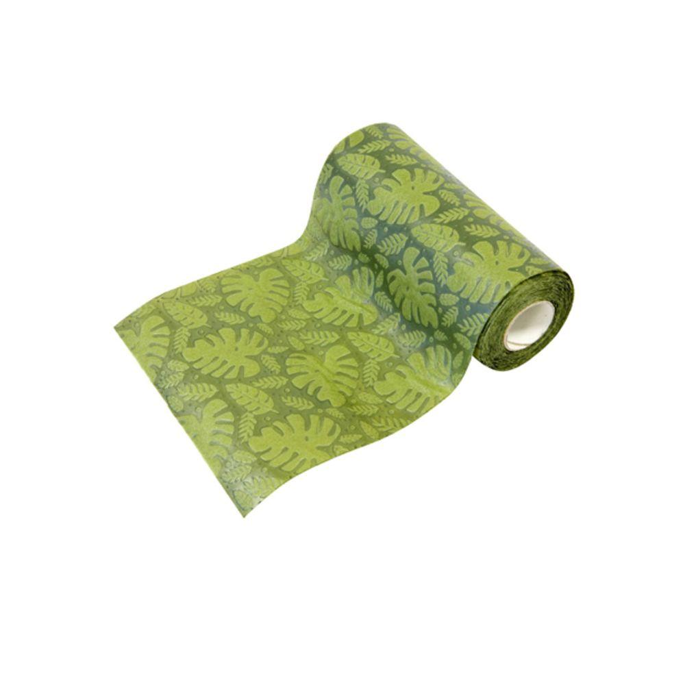 Visiodirect Lot de 10 Chemins de table intissé coloris vert foncé - 14 cm x 5 m