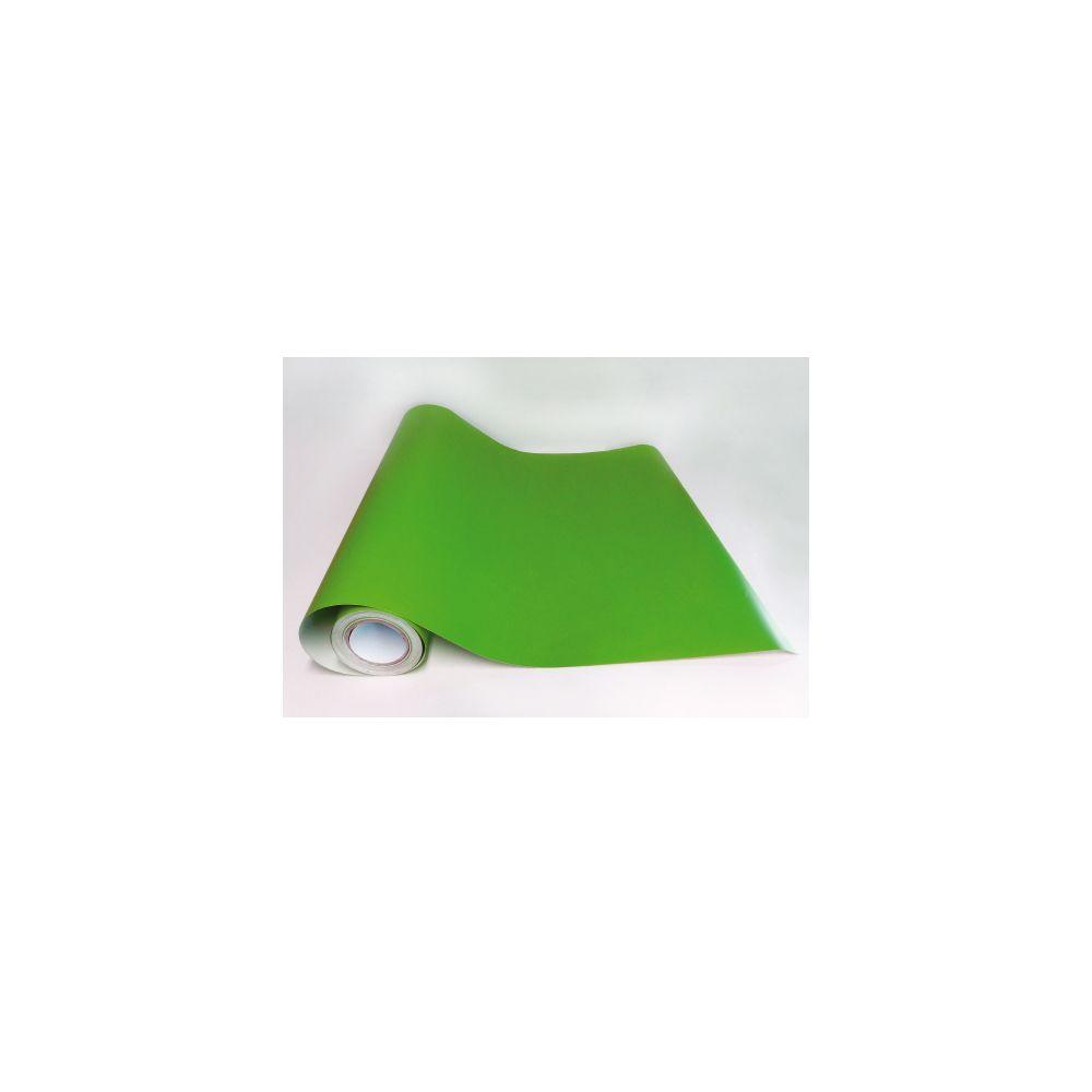 Adzif Biz Rouleau adhésif - Papier peint autocollant Vert gazon mat (10 m x 61,5 cm)