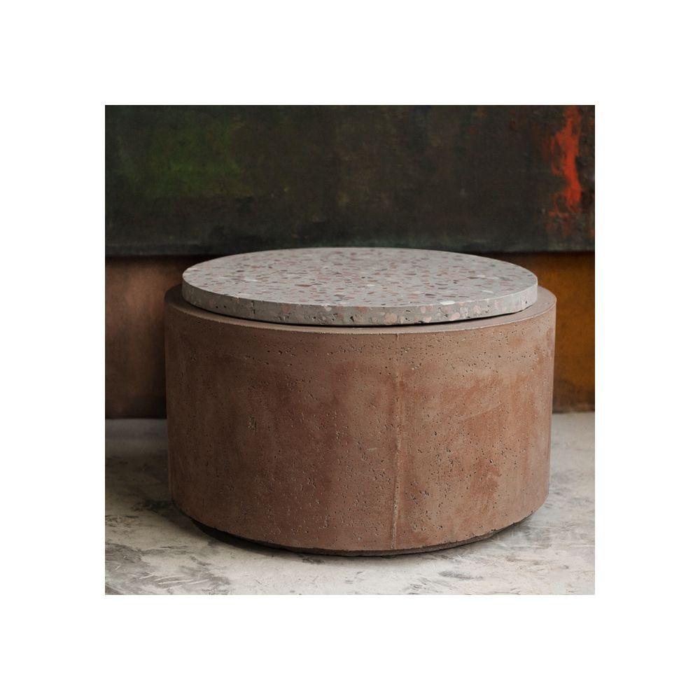 Rendez Vous Deco Table d'appoint Poppy en terrazzo/béton ? 66 cm