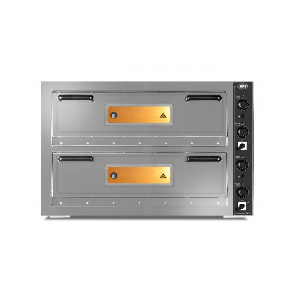 Materiel Chr Pro Four à Pizzas 9 + 9 Pizzas Ø 30 cm - 16 kW - AFI Collin Lucy -