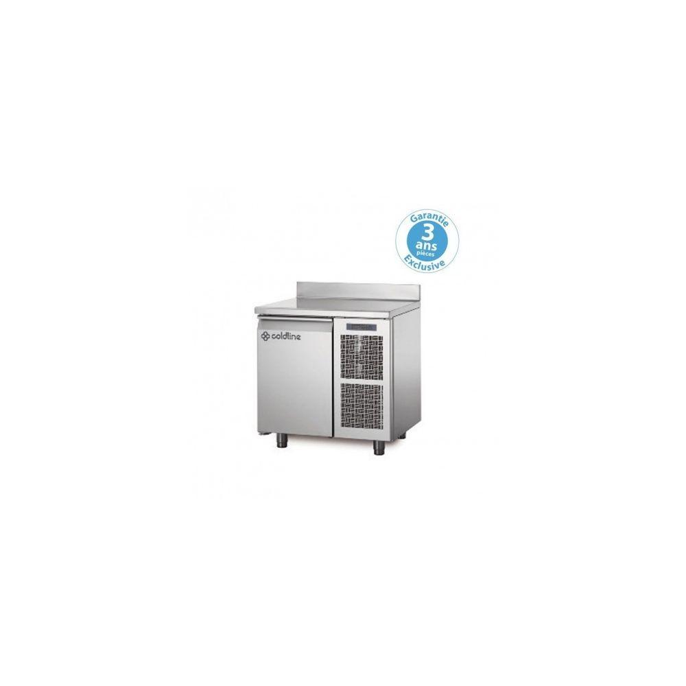 Materiel Chr Pro Table réfrigérée négative - groupe logé - 1 porte - 145 litres - profondeur 800 - 600 x 400 - avec dosseret -