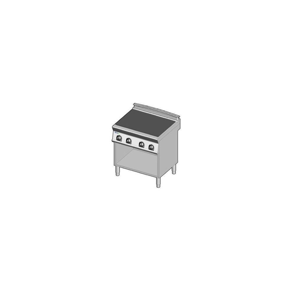 Materiel Chr Pro Fourneau plaque coup de feu électrique de mijotage sur placard - gamme 700 - module 400 - Tecnoinox -
