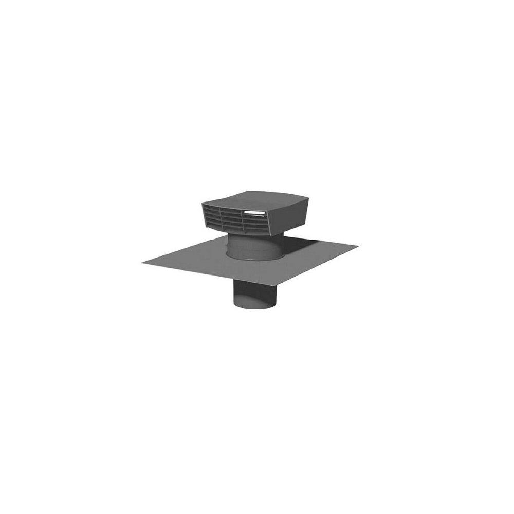 Unelvent - Chapeau de toiture plastique CT 125P - 125 mm - Ardoise Unelvent 873999 - VMC ...