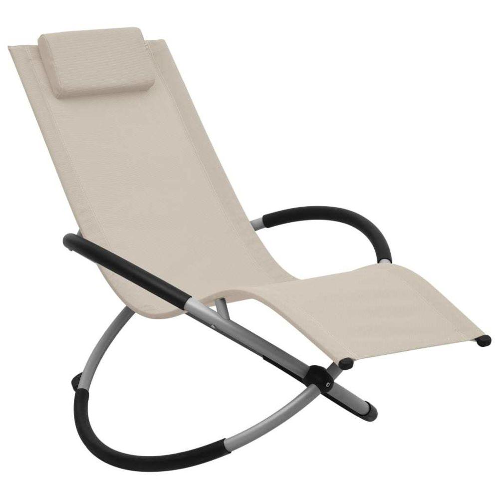 Vidaxl vidaXL Chaise longue pour enfants Acier Crème