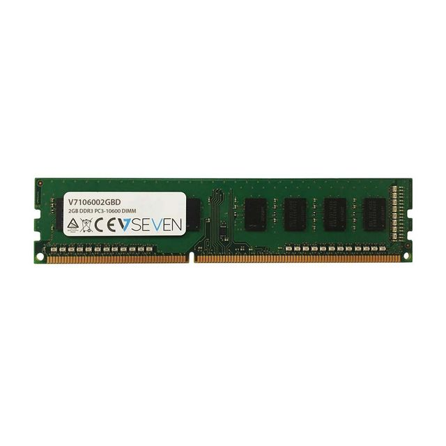 V7 - V7 DDR3 2Gb 1333MHz cl9 dimm pc3-10600 (V7106002GBD) - RAM PC Fixe