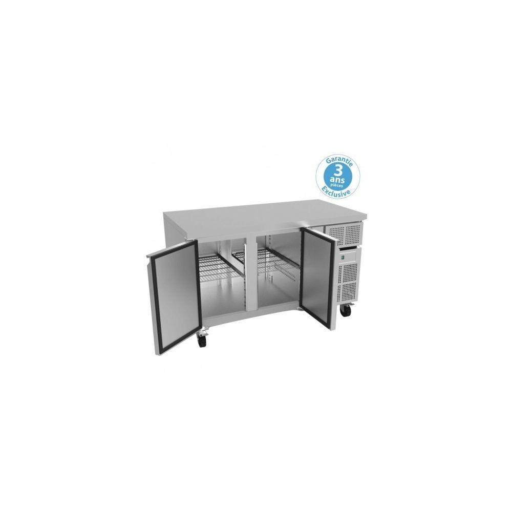 Furnotel Table réfrigérée négative 700 - 2 portes 313 litres avec dosseret - Furnotel - 700