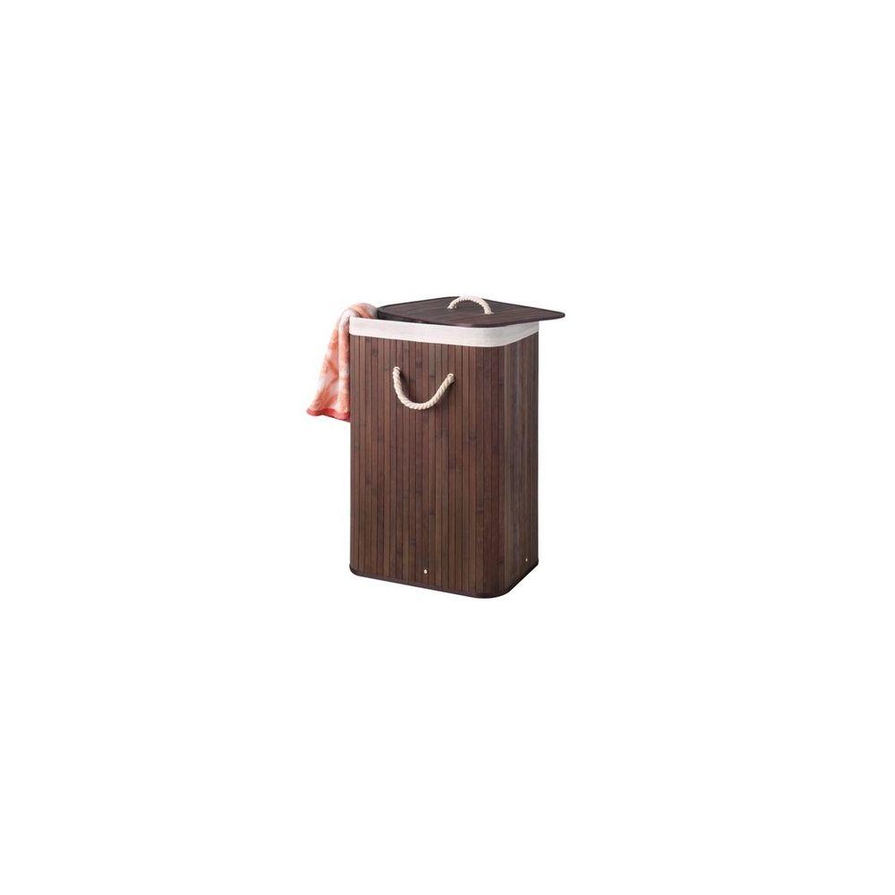 Velleman Panier à linge bambou brun 72 litres