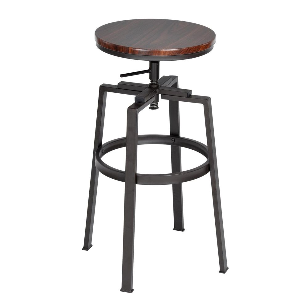 Capsull Design Tabouret de bar Swing bois lot de 2