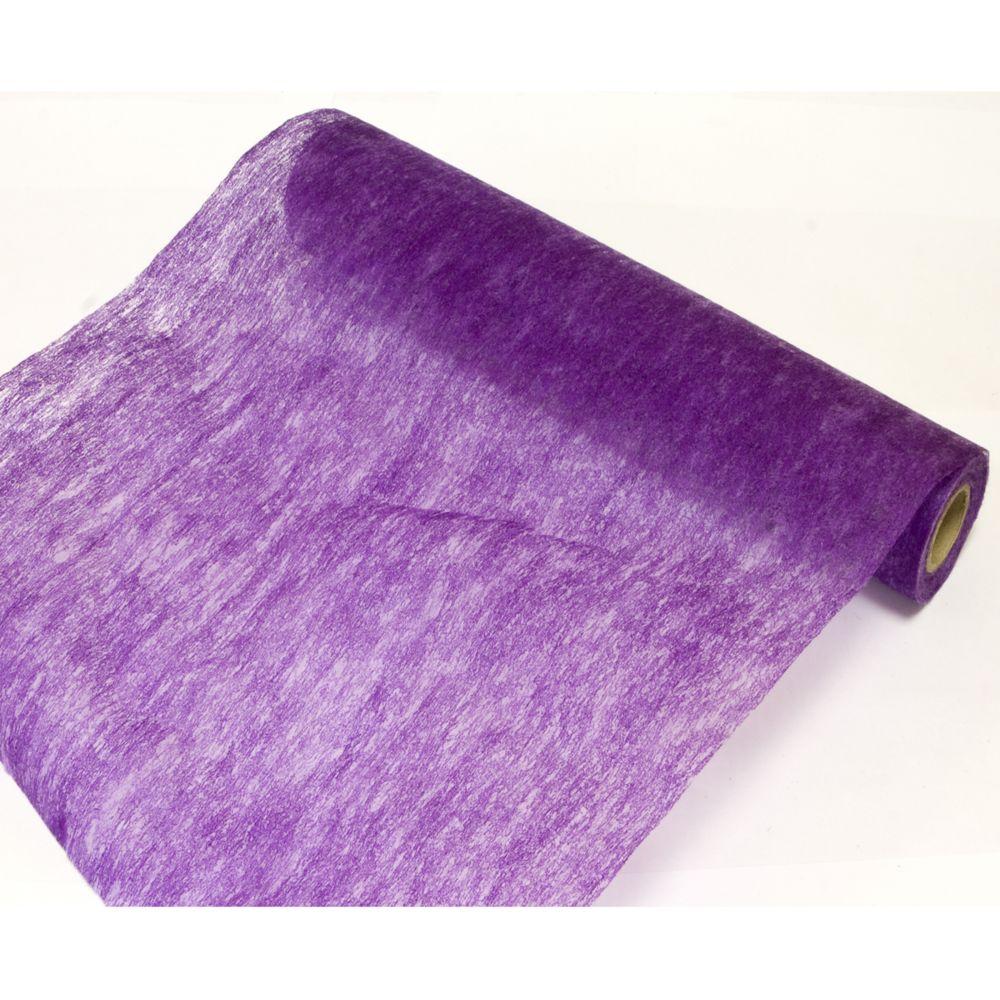 Visiodirect Lot de 10 Rouleaux en tissus non tissé uni coloris Prune - 29 cm x 10 m