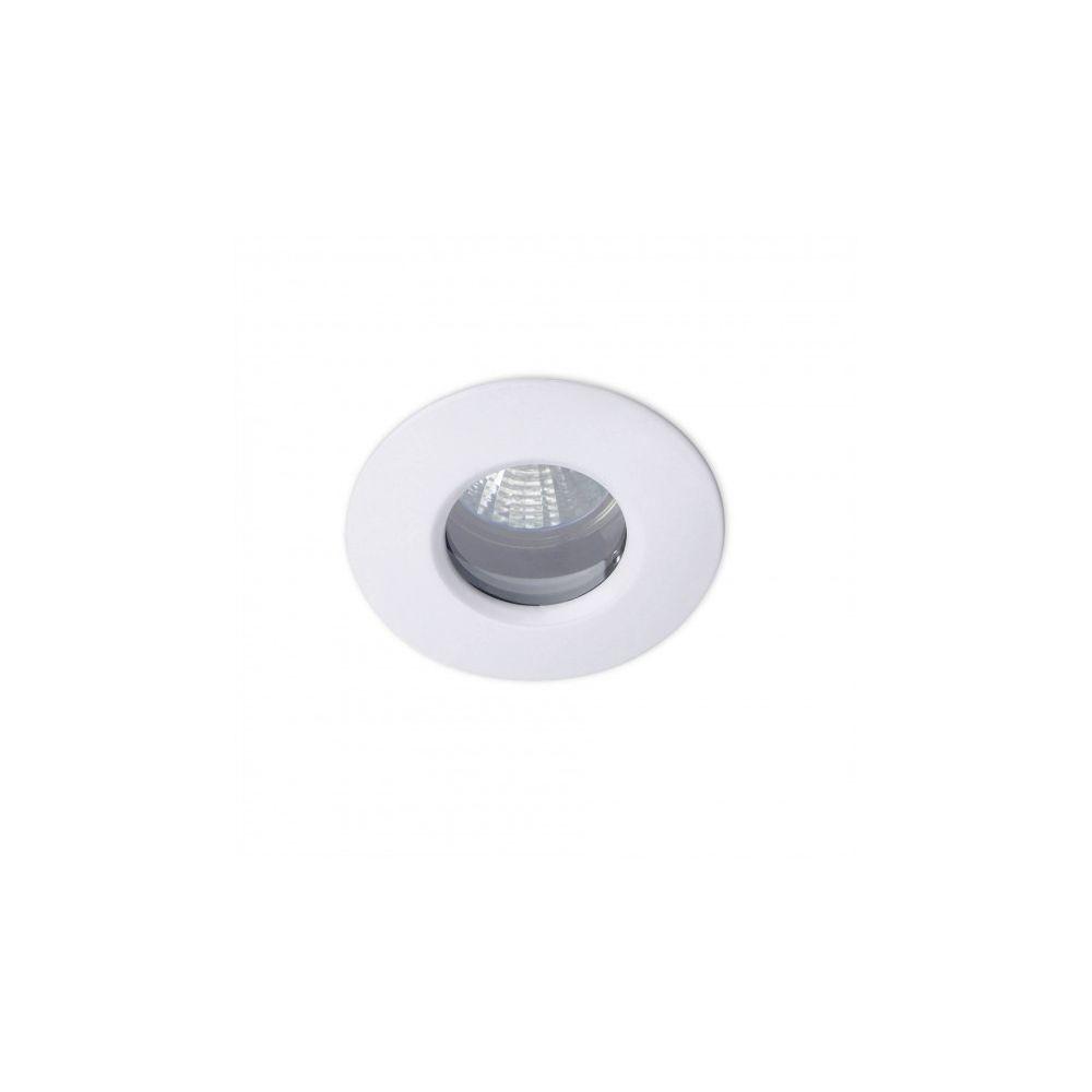 Leds C4 Plafonnier encastrable Split, aluminium et verre, blanc