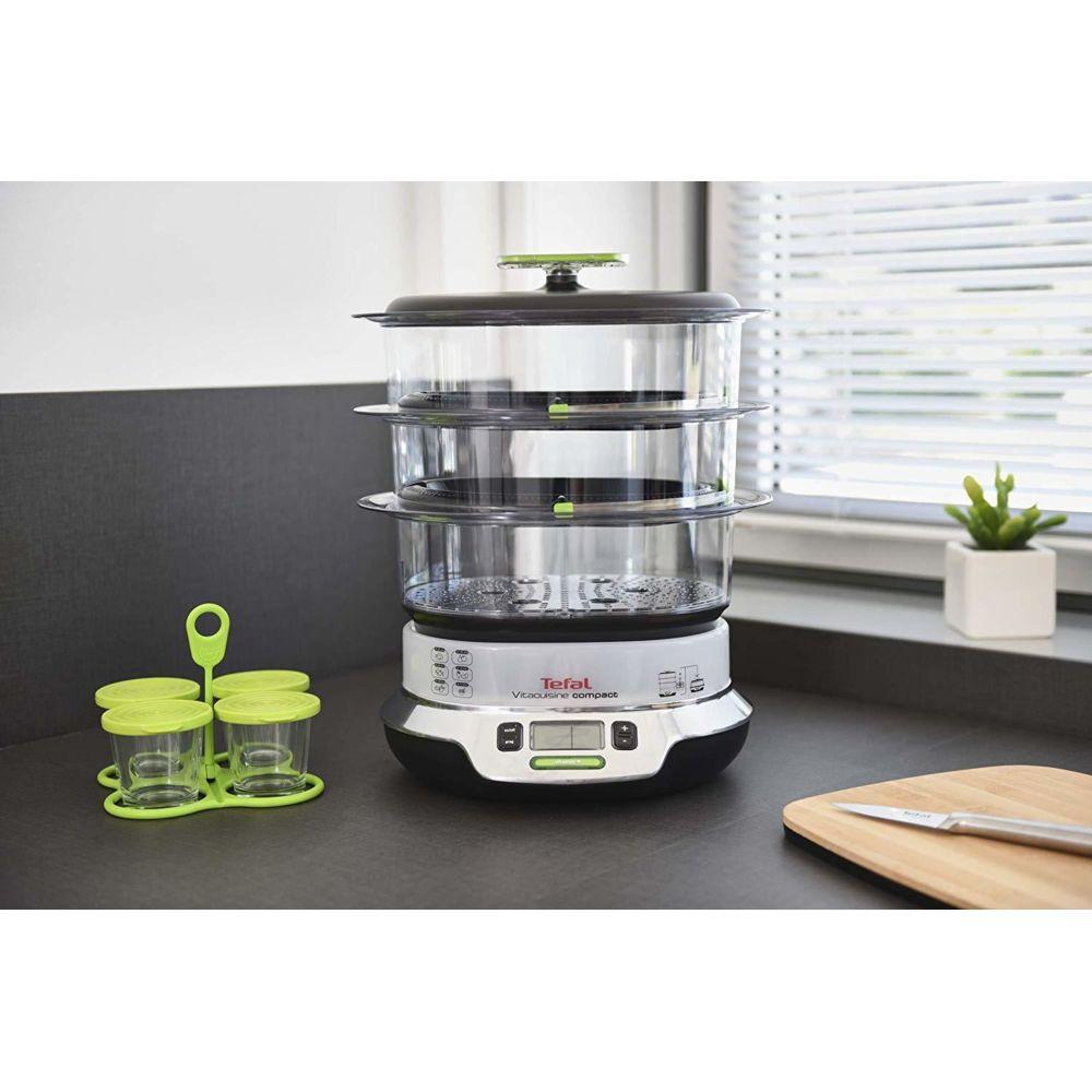 Tefal cuiseur vapeur électrique de 10,3L 1800W vert gris noir