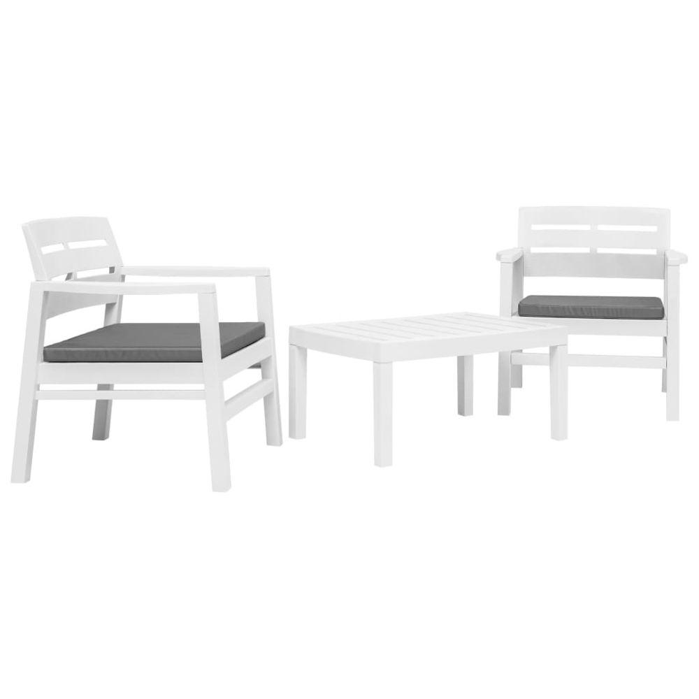 Vidaxl vidaXL Ensemble de mobilier de jardin 3 pcs Plastique Blanc