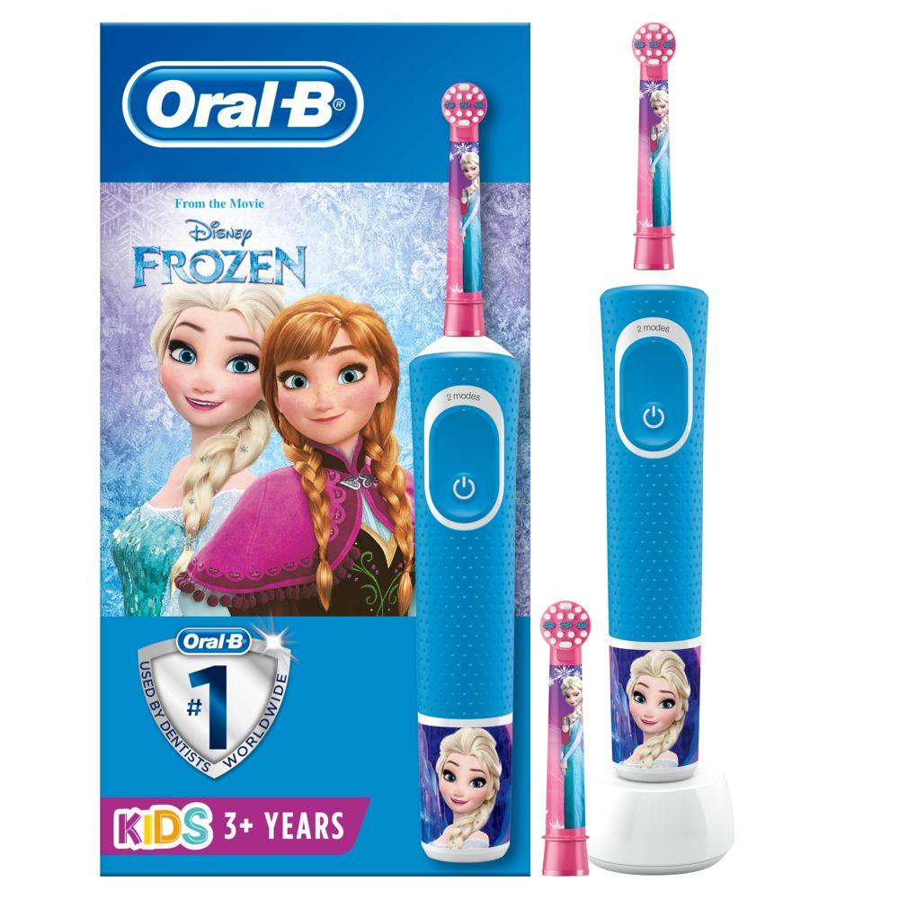 Oral-B ORAL-B 80351764 - Brosse a Dents Electrique Reine Des Neiges 2 - Brossette ronde - Poils ultra-souples - Adaptee aux 3an