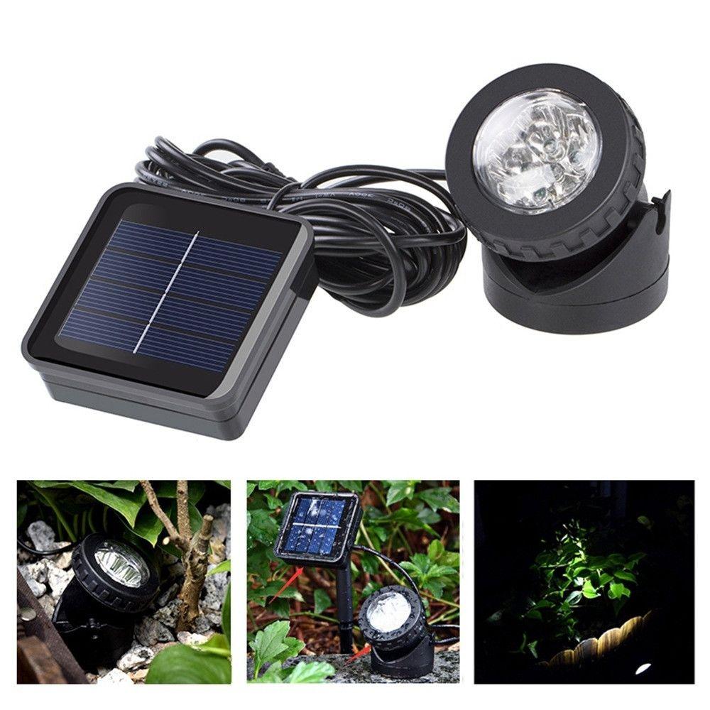 Wewoo Projecteur LED extérieur Paysage solaire d'éclairage de jardin de piscine de de lumière à à double usage IP65